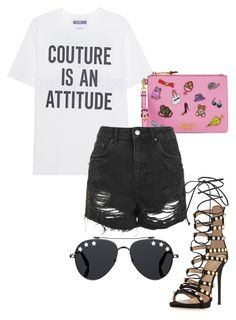 """Untitled #116"" by danielaprzhrtd on Polyvore featuring Moschino, Giuseppe Zanotti, Topshop and Givenchy"