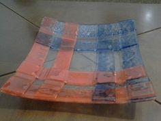 Centro de mesa em tiras em fusing