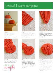 Upcycle Craft - Sleeve Pumpkins