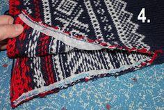 Hjerte GO`H Design: Montering av strikket genser med isatte ermer