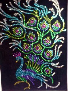 sequin art peacoc - Google Search