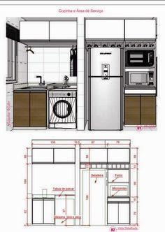 Continuando o post  anterior.   Agora, vamos ver os desenhos possíveis para quem tem uma cozinha grande. Diferente,dos casos onde a cozinha...