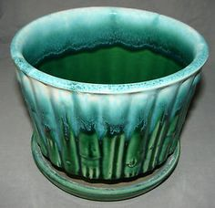 Antique McCoy Pottery | Details about VINTAGE MCCOY ART POTTERY USA PLANTER GREEN BAMBOO 0373 ...