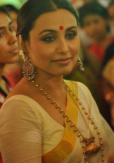 Rani in traditional bengali saree