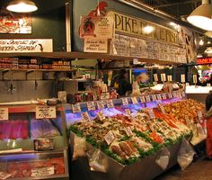Pike Place Market | this is the fish place in pike place market that is famous for ...