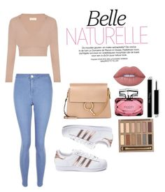 """""""#NudeGlam"""" by sami-paradise ❤ liked on Polyvore featuring New Look, adidas, Chloé, Gucci, Lime Crime and Urban Decay"""