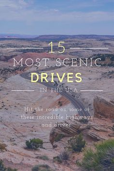 Pack the car! It's time for an unforgettable road trip across some of America's most scenic highways and roads... http://www.desktodirtbag.com/most-scenic-drives-in-the-usa/