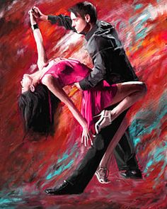 Tango Painting - Dance Of Fire by Robert Smith