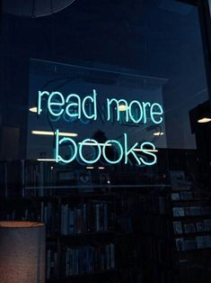 Quote in neon lights: Read more books The Words, Neon Words, Books And Tea, I Love Books, Books To Read, Reading Books, Neon Quotes, Quotes Quotes, Life Quotes