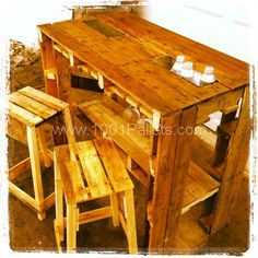 IMG 2202 600x600 Pallet Bar in pallet furniture  with Stool Pallets Bar