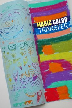 Magic Color Transfer- Easy and fun art activity for kids!