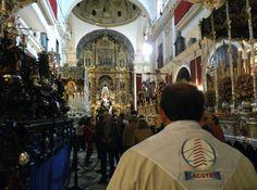 LACOTEC en Sevilla: La Semana Santa de Sevilla es la conmemoración de la pasión y muerte de Cristo a través de las procesiones que realizan las cofradías a la Catedral de la ciudad durante el periodo comprendido entre el Domingo de Ramos y el Domingo de Resurrección. A lo largo de esos días, 61 cofradías realizan su recorrido por las calles y 11 más lo hacen en los 2 días previos, Viernes de Dolores y Sábado de Pasión.