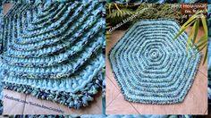I ALSO ... CROCHETO: Hexagonal carpet in Trapilho Relief