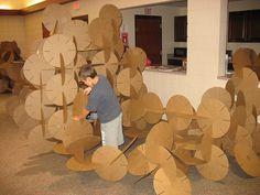2d>3d cardboard installation