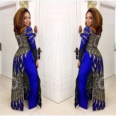 African print gown and pants set / African print wide leg pants / African clothing / Ankara dress / African dress / African dresses African Inspired Fashion, Latest African Fashion Dresses, African Print Dresses, African Print Fashion, Africa Fashion, African Dress, African Prints, African Fabric, African Attire