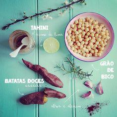 Húmus de batata doce e alecrim