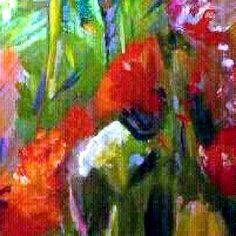 """Poppies"", original, oil on canvas, 30""x40"".  Fine Art by Julie Tucker-Demps."