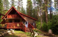 Privacy, hot tub ...  Log Cabin in the Woods 10 mins from Leavenworth VillageVacation Rental in Leavenworth from @HomeAway! #vacation #rental #travel #homeaway