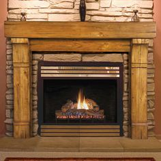 Tahoe 48-In x 42-In Wood Fireplace Mantel Surround
