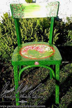 Antike, kunstvolle Wohneinrichtungskreationen & Lifestyle Artikel! Shabby Chic, Vintage Dekorationselemente & wunderschön per handbemalte Antiquitäten & Einrichtungsgegenstände! Speziell verwendete hochwertige Farben sind stoß- und schlagfest, blockfest, licht- und wetterbeständig für In- & Outdoor! Dining Chairs, Shabby, Outdoor, Vintage, Furniture, Home Decor, Art, Antiquities, Colors