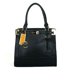 Michael Kors Pebbled Leather Large Black Satchels only $72.99