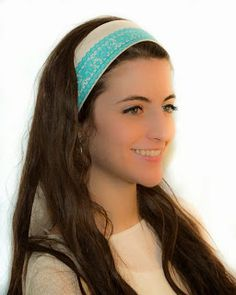 Cute turquoise headband for those bad hair days