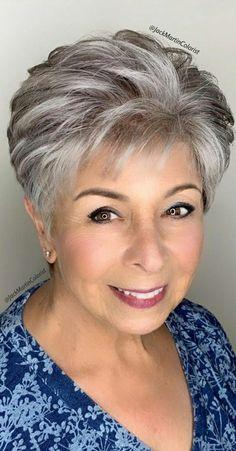 Short Hair Over 60, Short Thin Hair, Short Hair Older Women, Short Grey Hair, Short Hair With Layers, Short Hair Syles, Short Choppy Hair, Short Silver Hair, Silver Hair Dye