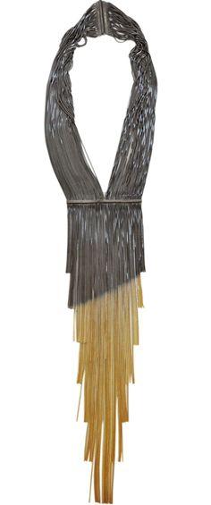 Iosselliani Long Shaded Fringe Necklace
