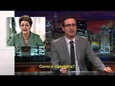 Last Week Tonight, com John Oliver, passa na HBO dos EUA e Canadá. O panelaço da semana passada, contra a presidente do Brasil, foi destaque no programa