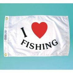Nyl-Glo I Love Fishing Flag-12 in. X 18 in. http://www.pacificcoastflag.com/product-type/sports-recreation-leisure-boating-fishing-auto-racing/12-in-x-18-in-nyl-glo-i-love-fishing-flag.html