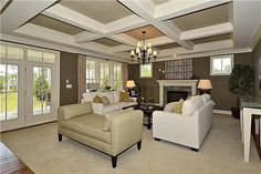 Open family room in the Mosby model for Mitchell & Best with Willowsford.