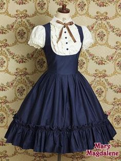 I found 'Mary Magdalene Blue School uniform Lolita Cute dress japanese fashion' on Wish, check it out! I found 'Mary Magdalene Blue School uniform Lolita Cute dress japanese fashion' on Wish, check it out! Style Lolita, Mode Lolita, Gothic Lolita, Gothic Girls, Kawaii Fashion, Lolita Fashion, Cute Fashion, Emo Fashion, Gothic Fashion