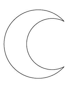 Use the printable outline for crafts, creating stencils, … Crescent Moon pattern. Use the printable outline for. Felt Crafts, Fabric Crafts, Diy And Crafts, Paper Crafts, Applique Templates, Applique Patterns, Stencil Templates, Felt Patterns, Craft Patterns