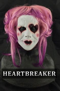 trixie half mask silicone mask by Immortal Masks Female Clown, Female Mask, Immortal Masks, Horror Masks, Silicone Masks, Clown Mask, Half Mask, Maquillage Halloween, Halloween Face Makeup
