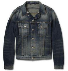 Nudie Jeans Perry Distressed Organic Selvedge Denim Jacket | MR PORTER
