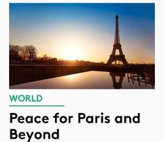 Prayers for world peace. ....