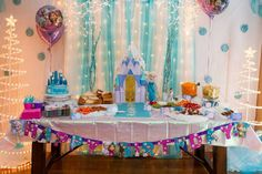 Ryleigh's Frozen 4th Birthday Party | CatchMyParty.com
