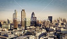 City of London one of the leading centers of global finance and Canary Wharf at the background. City Of London, Skyline Von London, Best Hotel Deals, London Hotels, Sky High, Westminster, San Francisco Skyline, Places To Travel, Behind The Scenes