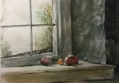 Andrew Wyeth: Looking Out, Looking In.Andrew Wyeth, Frostbitten, watercolor on paper, Private Collection. © Andrew Wyeth 2 of 7 Jamie Wyeth, Andrew Wyeth Paintings, Andrew Wyeth Art, Nc Wyeth, National Gallery Of Art, Anime Comics, Oeuvre D'art, American Artists, Still Life