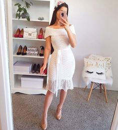 Moda vestidos cortos elegantes ideas for Winter Fashion Outfits, Fashion Dresses, Church Dresses, Formal Dresses, Jw Mode, Civil Wedding Dresses, Lace Dress Styles, African Dress, Classy Outfits