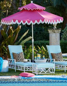Colorful, personality-filled and totally chic poolside style.