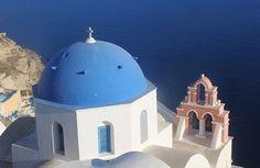 Como achar a igreja do teto azul, cartão postal de Santorini na Grécia | Aprendiz de Viajante | Bloglovin'