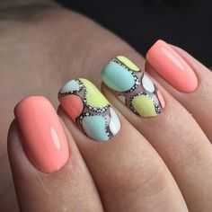 Best nail designs that are inspiring the hottest nail art trends! - Easy nail art designs that everyone can do, to simple nail art tutorials and hacks. Hot Nails, Hair And Nails, Dot Nail Art, Trendy Nail Art, Manicure E Pedicure, Creative Nails, Nail Trends, Simple Nails, Nail Arts