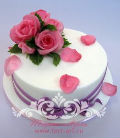 """Торты на 8 Марта — Торт для женщины """"Розовый букет"""""""
