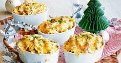 Satisfy hungry tummies with these cheesy individual creamy tuna pasta bakes.