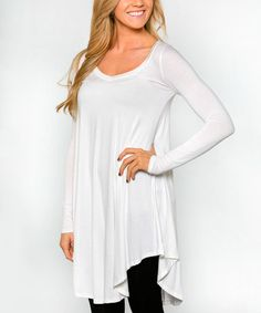 Take a look at this Ivory Drape Ballet Tunic on zulily today!