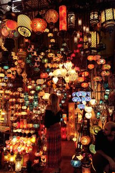 lamps of various size, color, shape ~
