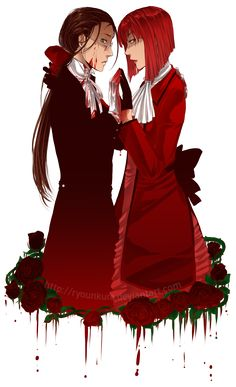 Black Butler ~~ Grell and Madame Red :: [ i wish i was someone better by ryounkura on deviantART ]