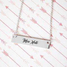 Meu Xodó Gold / Silver Bar Necklace