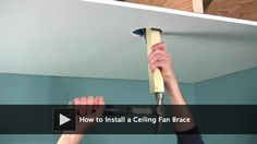 DIY video: How to Install a Ceiling Fan Brace. Do you want to replace an old light fixture with a new ceiling fan? Be sure to support the weight of the fan by installing a brace.